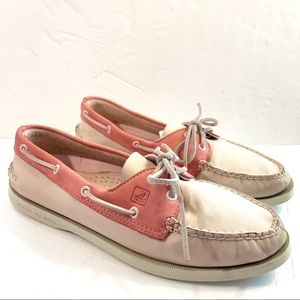 Sperry Top Sider Pink and Blush Nubuck Boat Shoes